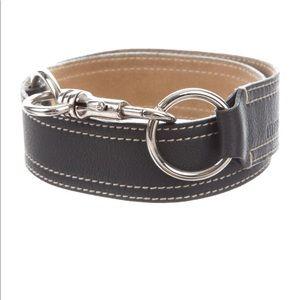Miu Miu carabiner clasp buckle black leather belt